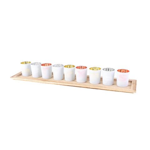 Set of 9 Votives w/ Tray