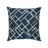 Coastal Outdoor Pillow - Divergence Indigo
