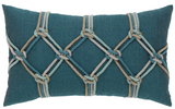 Coastal Outdoor Pillow - Indigo Rope Lumbar