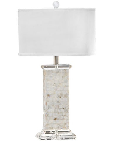 Crystal Mother of Pearl Lamp - Tall