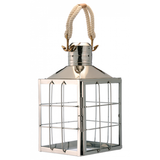 Nickel Plated Nautical Lantern Rope Handle - Large