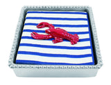 Lobster Twist Napkin Box Set - Red, White and Blue