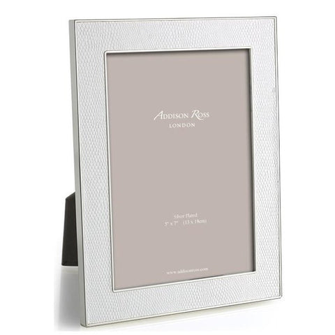 Faux Snake White 5x7 Photo Picture Frame