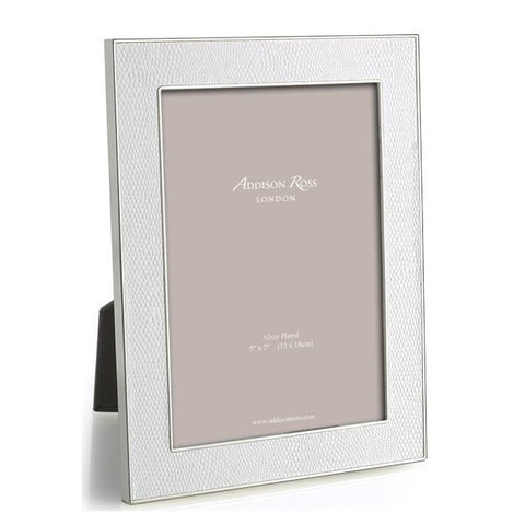 Faux Snake White 4x6 Photo Picture Frame