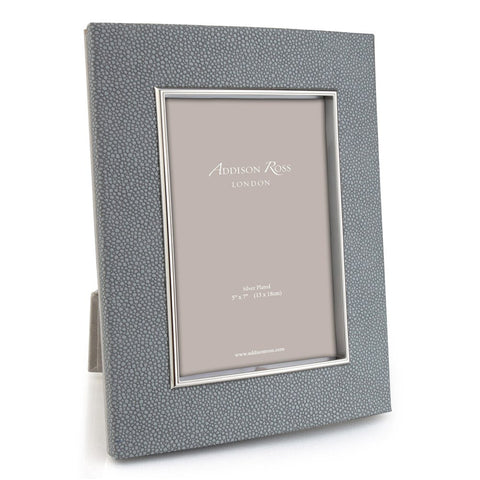 Silver and Grey Shagreen 5x7 Photo Picture Frame