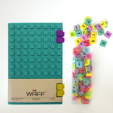 WAFF Glitter Silicone Blank Journal + 2 Clips Set - Malachite (Large)