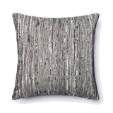 Silk & Cotton Square Accent Pillow - Black / Multi 22x22