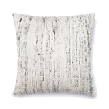 SILK & COTTON SQUARE ACCENT PILLOW - SLIVER & MULTI