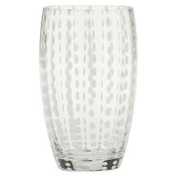 "ZAFFERANO ""PERLE"" Tumbler Beverage Glass 16 oz (Clear)"