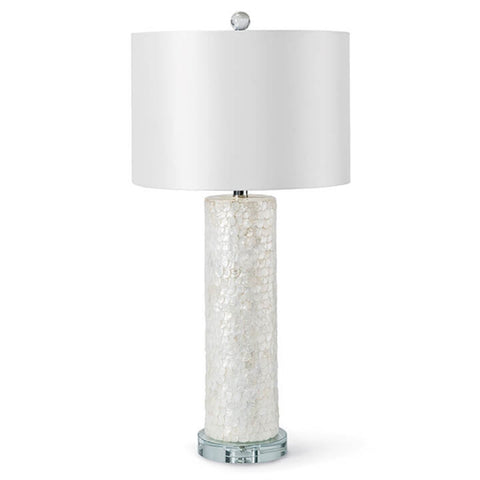 Scalloped Natural Capiz Table Lamp