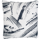 Brushstroke White/Indigo Decorative Pillow Cushions