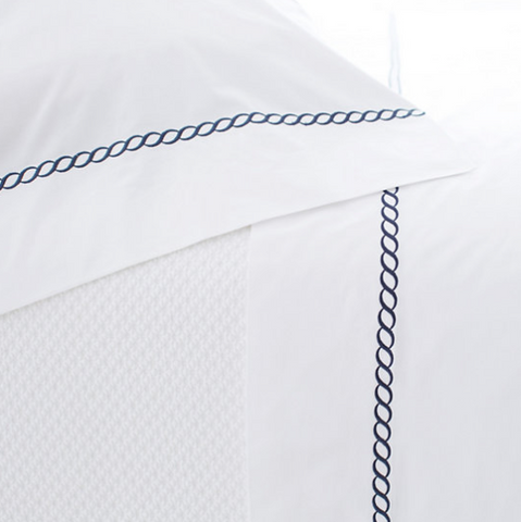 Helix Indigo Cotton Flat Sheet