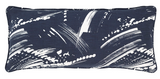 Brushstroke Indigo/White Decorative Double Boudoir Pillow