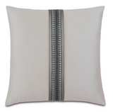 Edris Fog with Border Pillow Cushion