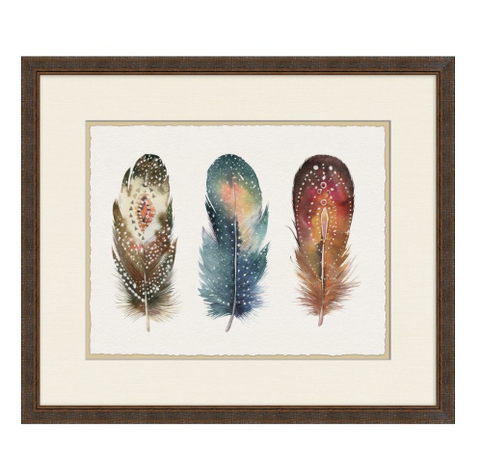 Adorned Feathers 6 - Framed Print Wall Art