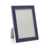 Faux Croc Blue Photo Picture Frame - 4x6