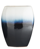 Blue and White Ceramic Vase - Large