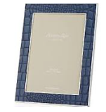 Faux Croc Blue Picture Frame 5X7