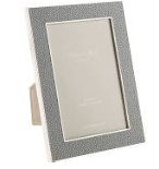Grey Faux Shagreen Picture Frame 4x6