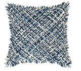 Bait Loop Blue Decorative Accent Pillow