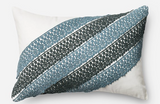 Blue/ White Hand Woven Pillow