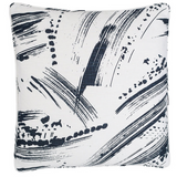 Brushstroke White/Indigo Decorative Pillow Double Boudoir