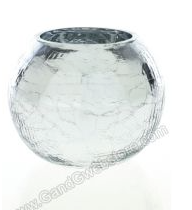 Crackle Sphere-silver