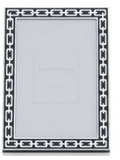 MIDNIGHT SILVER LINK PHOTO FRAME  5X7