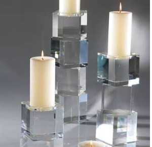 CRYSTAL CUBE CANDLE HOLDER- Medium