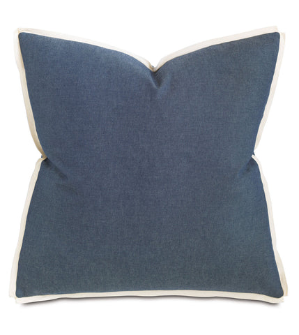 "Thom Filicia ""Strauss Denim"" Euro Sham Accent Pillow Cushion"