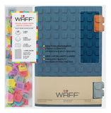 WAFF Glitter Silicone Blank Journal + 2 Clips - Navy Blue (Large)