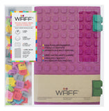 WAFF Glitter Silicone Blank Journal + 2 Clips Set - Fuchsia (Large)