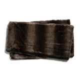 ZORA FAUX FUR THROW BLANKET - BROWN