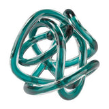 Glass Knot in Aqua Sculptures