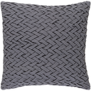 Facade Braid Woven Grey Pillow 20 x 20
