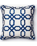 Blue Geometric Design Accent Pillow Cushion