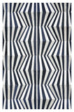 TIRA Design Cowhide Collection Rug - Marine