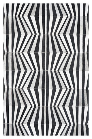 TIRA Design Cowhide Collection Rug - Onyx