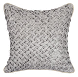 Crosshatched Pillow Cushion - Grey