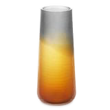 "SUNSET 12"" Ombre Amber Smoke Cut Vase"