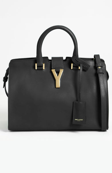 Saint Laurent 'Petite Ligne Y' Leather Tote