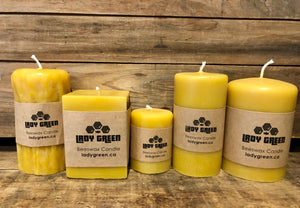 All Natural Beeswax Candles - Natural