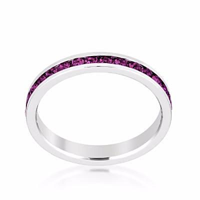 Swarovski Amethyst Purple Crystal Eternity Ring