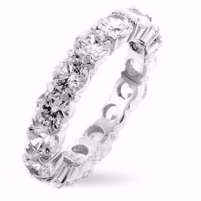 Natasia Eternity Wedding Band | Sterling Silver