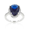 Majestic Pear Blue Sapphire Royal Ring