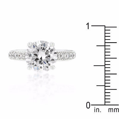 Elegance Round Solitaire Ring