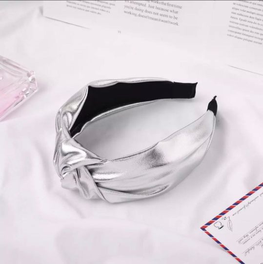 Silver Metallic Headband