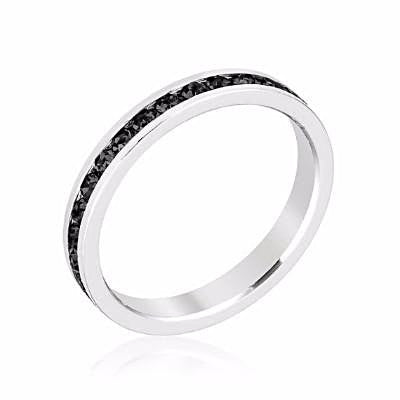 Swarovski Black Crystal Eternity Ring