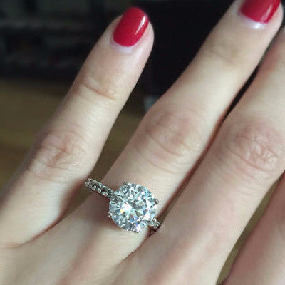 Queen Anne Engagement Ring | Sterling Silver
