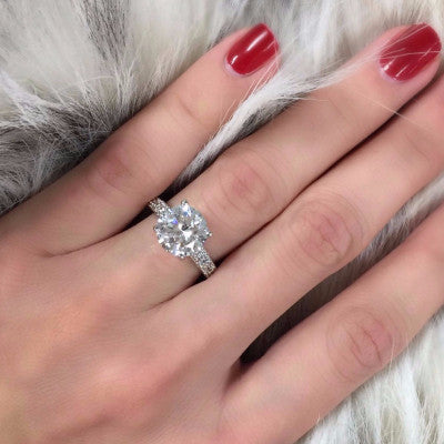 Elegance Micro Pave Engagement Ring